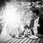 Brautpaar Hochzeit Torte Gegenlicht Potsdam