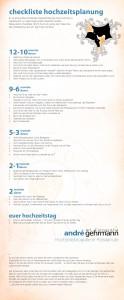 12-Monate-davor Hochzeits Checkliste